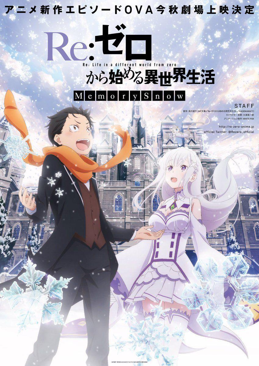Re Zero Kara Hajimeru Isekai Seikatsu Memory Snow Anime Manga Covers Subaru