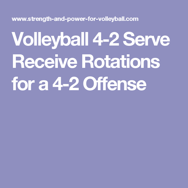 Volleyball 4 2 Offense Diagram 2005 Toyota Corolla Fuse Box Serve Receive Rotations For A Schools
