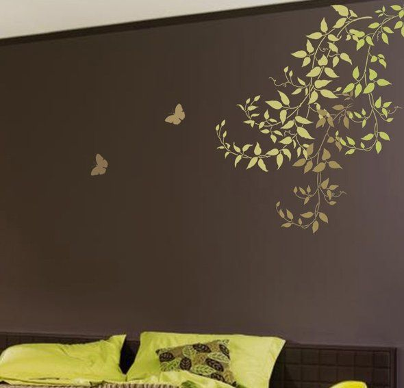 . Wall Stencils  Budding Clematis Vines  Beautiful wall designs by