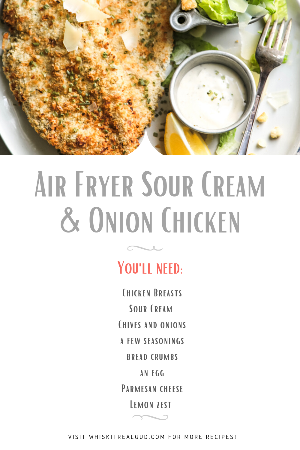 Air Fryer Sour Cream And Onion Chicken Recipe In 2020 Fast Chicken Recipes Easy Cooking Recipes Baked Chicken Recipes Easy