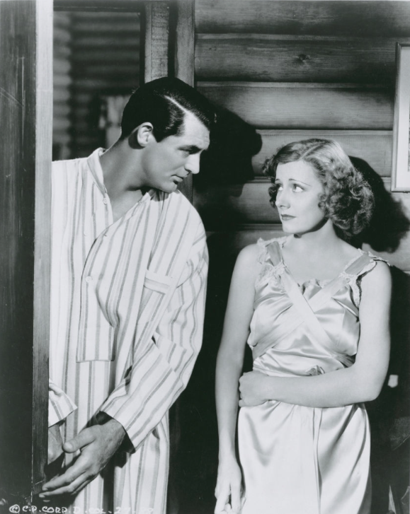 MY FAVORITE WIFE (1940) - When a shipwrecked wife (Irene Dunn) thought have died returns home, she finds her husband (Cary Grant) about to re-marry - RKO-Radio - Publicity Still.