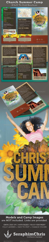 Church Summer Camp 8.5x11 Brochure Template