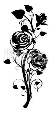 Rose Graphic Royalty Free Stock Vector Art Illustration