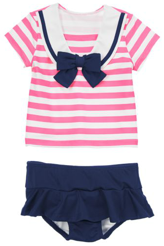 6af4f05d1ed5e4 New Baby Gifts  Sailor Striped Rash Guard Two-Piece Swimsuit Set for Baby  Girls   Gymboree