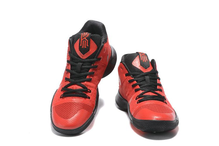 hot sale online 00a5b fe8e0 New Arrival Cheap Kyrie 3 III Sneakers Total Crimson Black