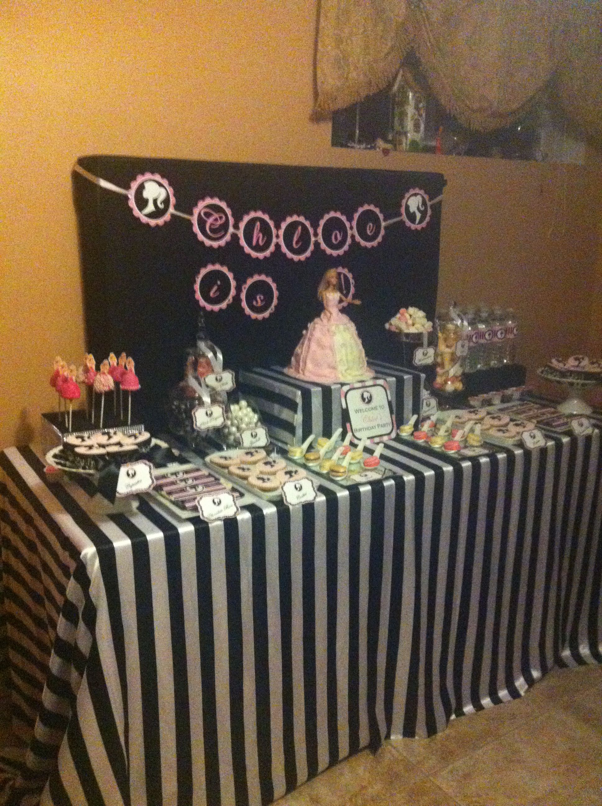 The Candy Buffet Company Inc Montreal Barbie inspired ...