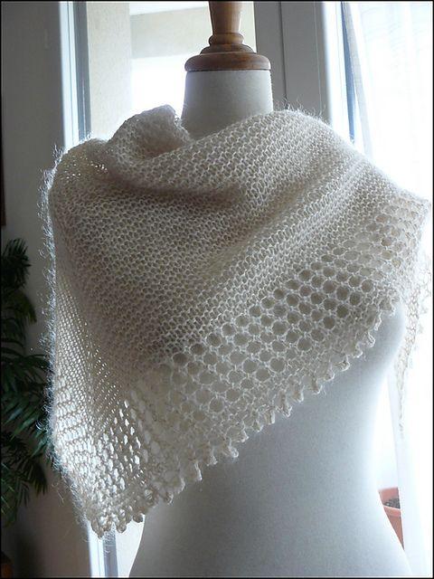 Free Knitting Pattern: Mousseux Shawl by Organdi Bidouille - Very ...