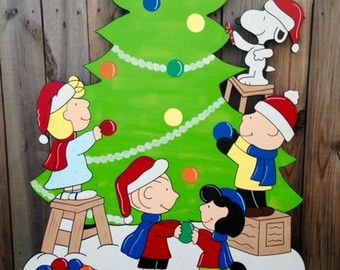 peanuts christmas yard art snoopy christmas yard by playfulyardart more