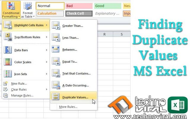 How to find out Duplicate Values in MS Excel - Finding Duplcates Ms