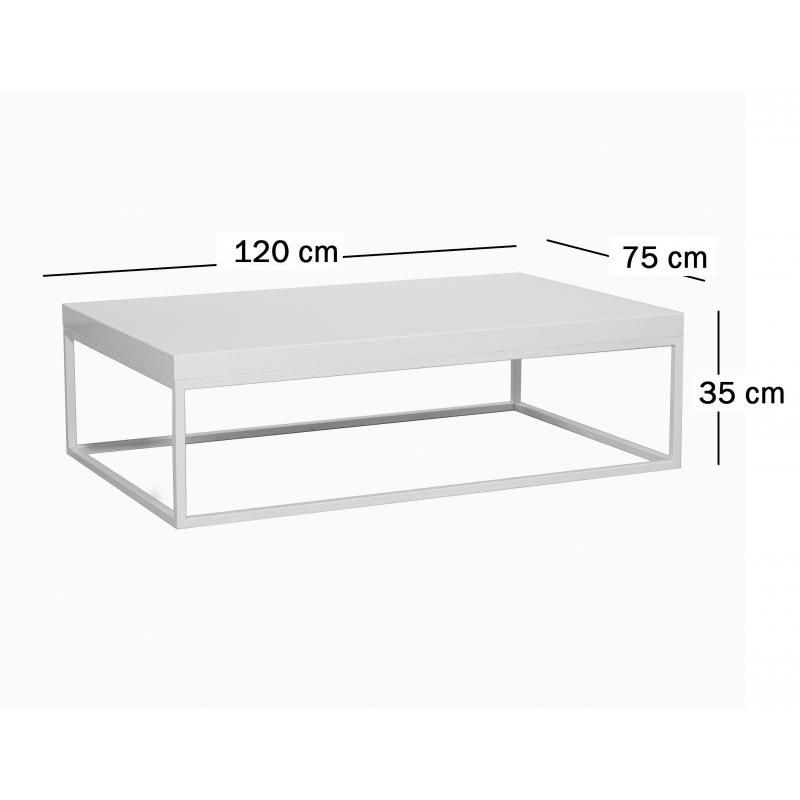 Table Basse Rectangulaire Blanche.Impressionnant Table Basse Rectangulaire Blanche