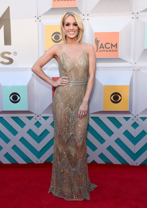 the best of the academy of country music awards red carpet | carrie