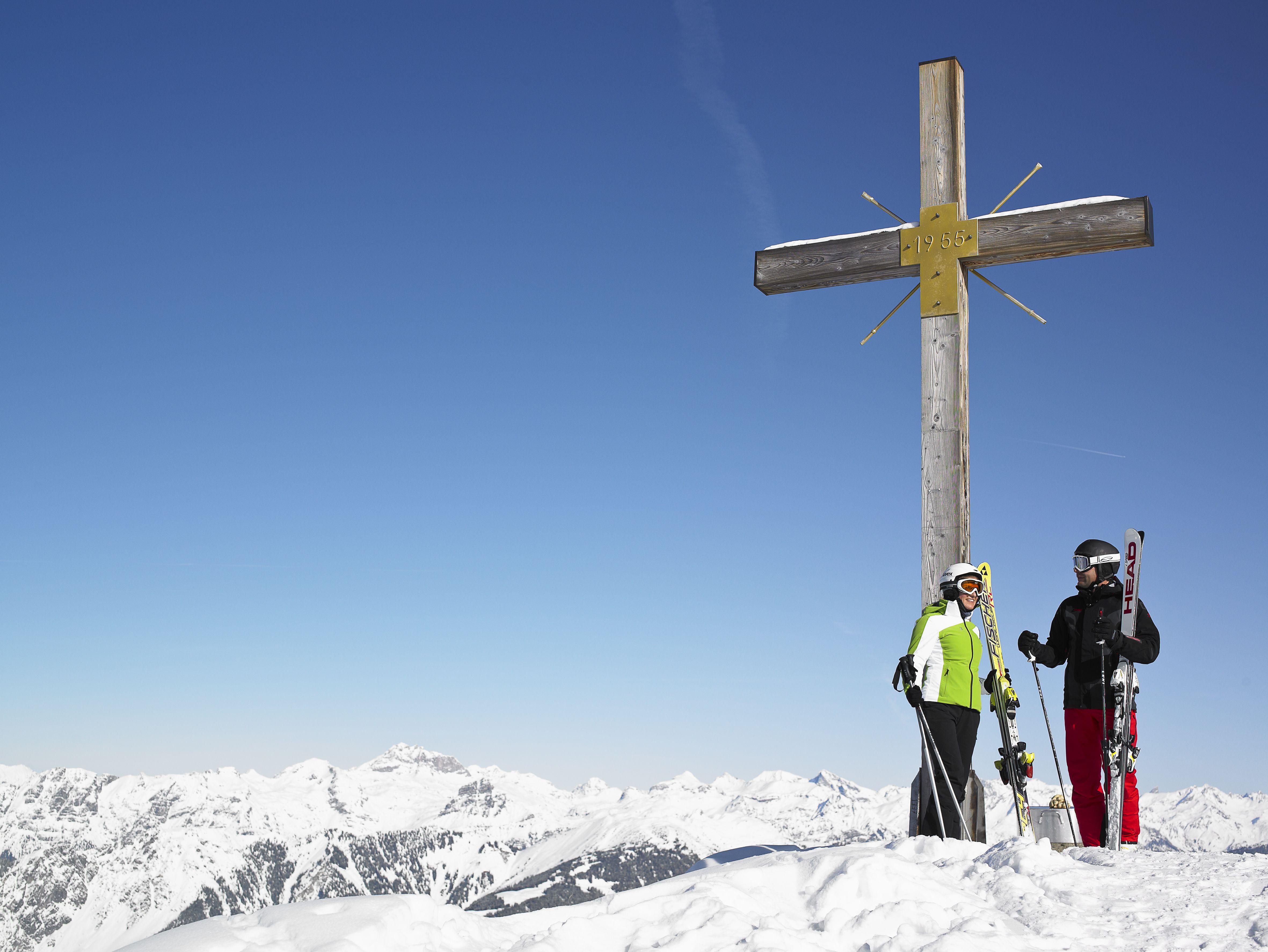 on the top of the mountain in montafon - auf dem Gipfel im Montafon