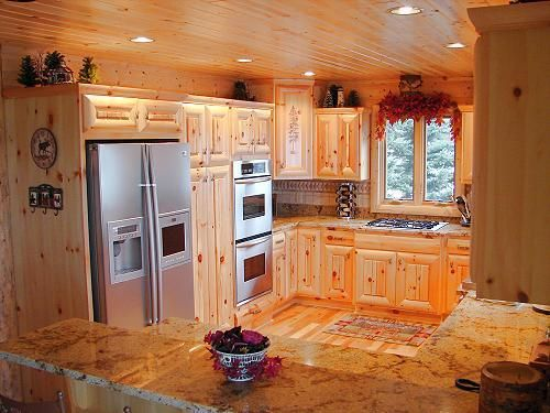 kitchen bath cabinets rustic pine hickory alder ceiling wood bathroom vanity