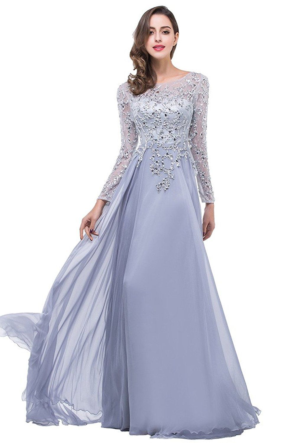 435997d8682 Babyonline Lace Mother of the Bride Dresses with Long Sleeves Evening Gowns