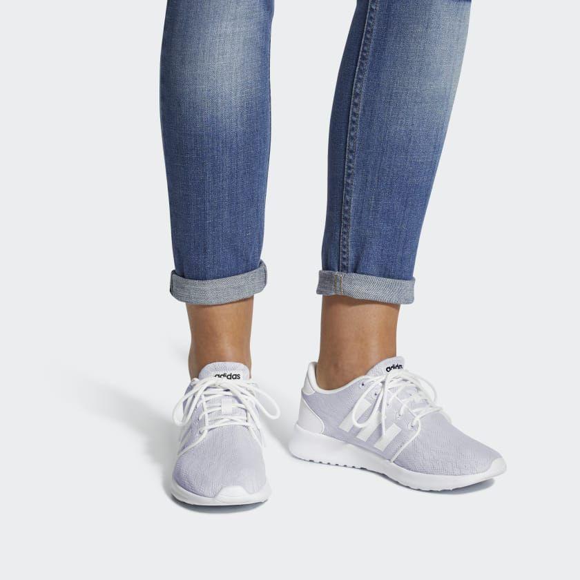 adidas Cloudfoam QT Racer Shoes - White