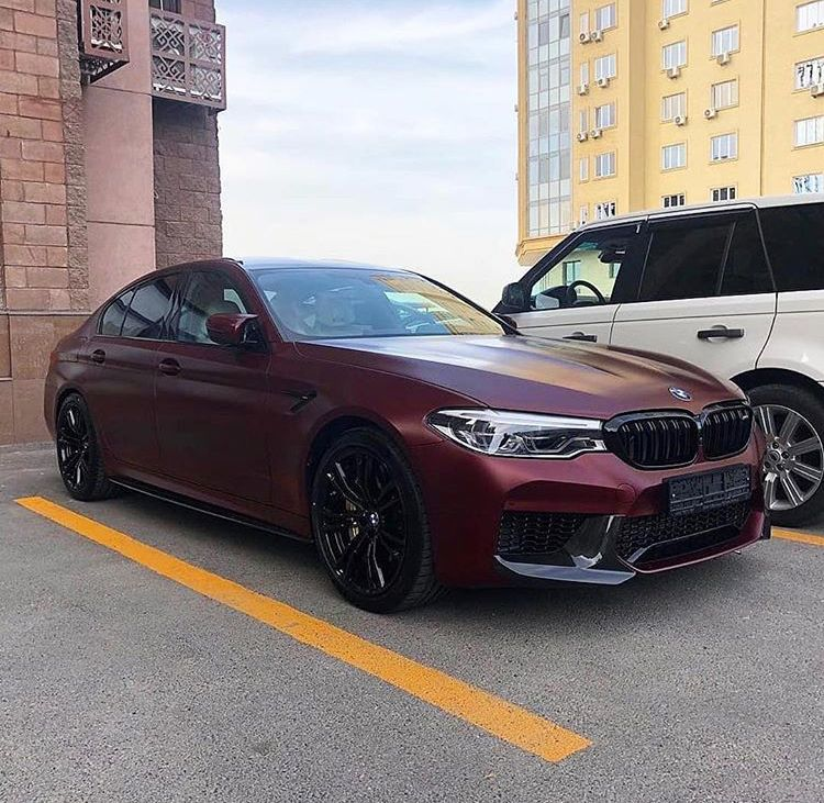 Matte Bordeaux Bmw M5 F90 Car Wheels Bmw