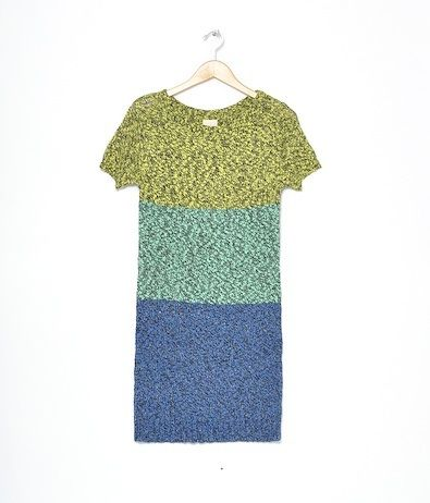 this knit dress is great for spring.  a linen and cotton mix in yellow, mint and blue.  so easy to wear you don't even need a slip.  59% linen 41% cotton.