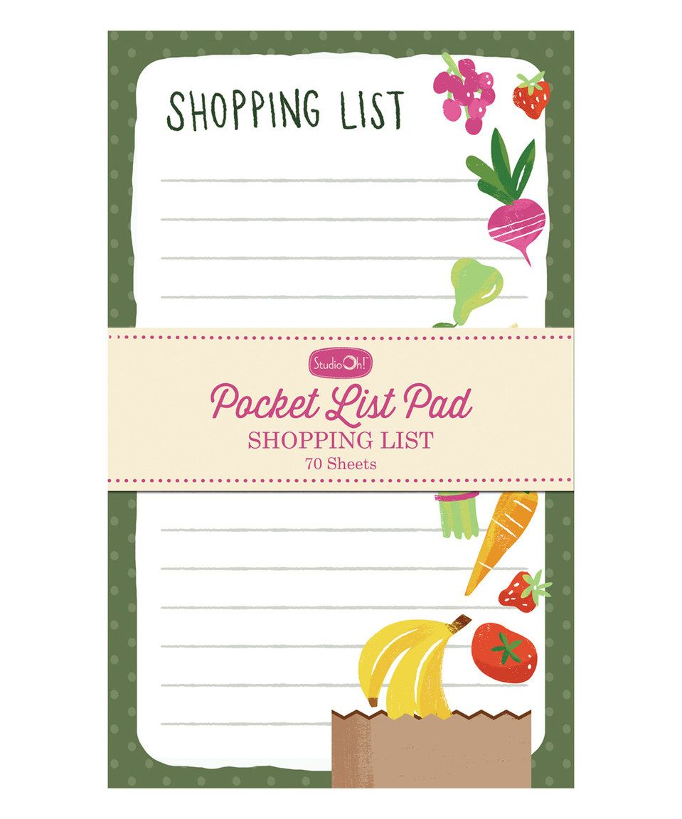 This Shopping List Pocket List Pad by Studio Oh! is perfect! #zulilyfinds