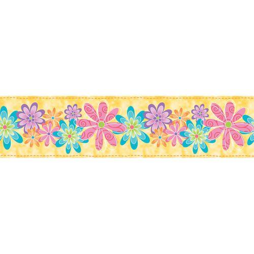 Self Adhesive Flirty Flowers Border At Menards Floral Wall Sticker Wall Coverings Wallpaper Border