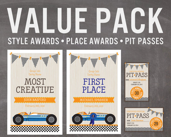 ITS NEVER BEEN EASIER TO ORGANIZE A GREAT DERBY! A value pack of - first place award certificate