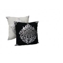 C1-42 - Black Silver Insignia Pillow -