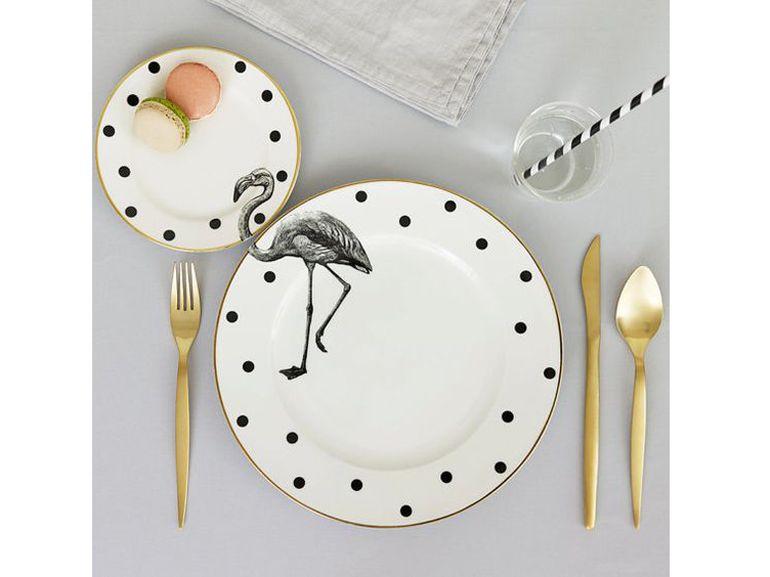 Piatto fenicottero plates plates decor e dinnerware for Fenicottero arredamento