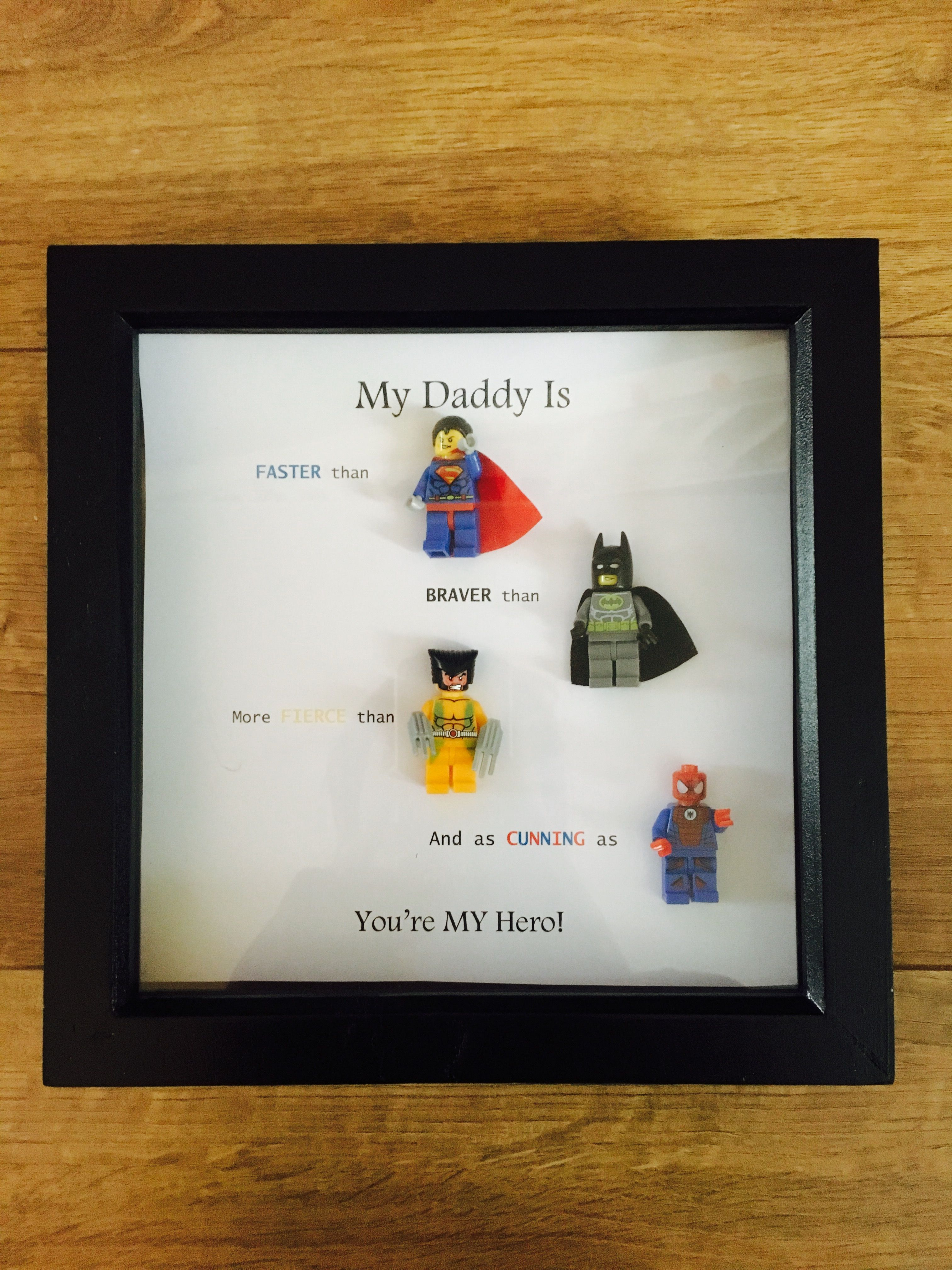 Superhero Daddy Frame, Avengers 😍👍🎄 https://www.etsy.com/uk/shop ...