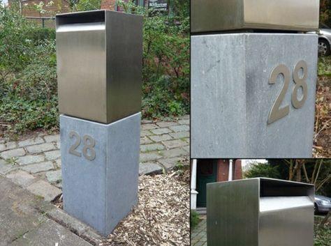 Gut bekannt Briefkasten Edelstahl Beton Pfosten befestigen | Bill Cody 4 CX44