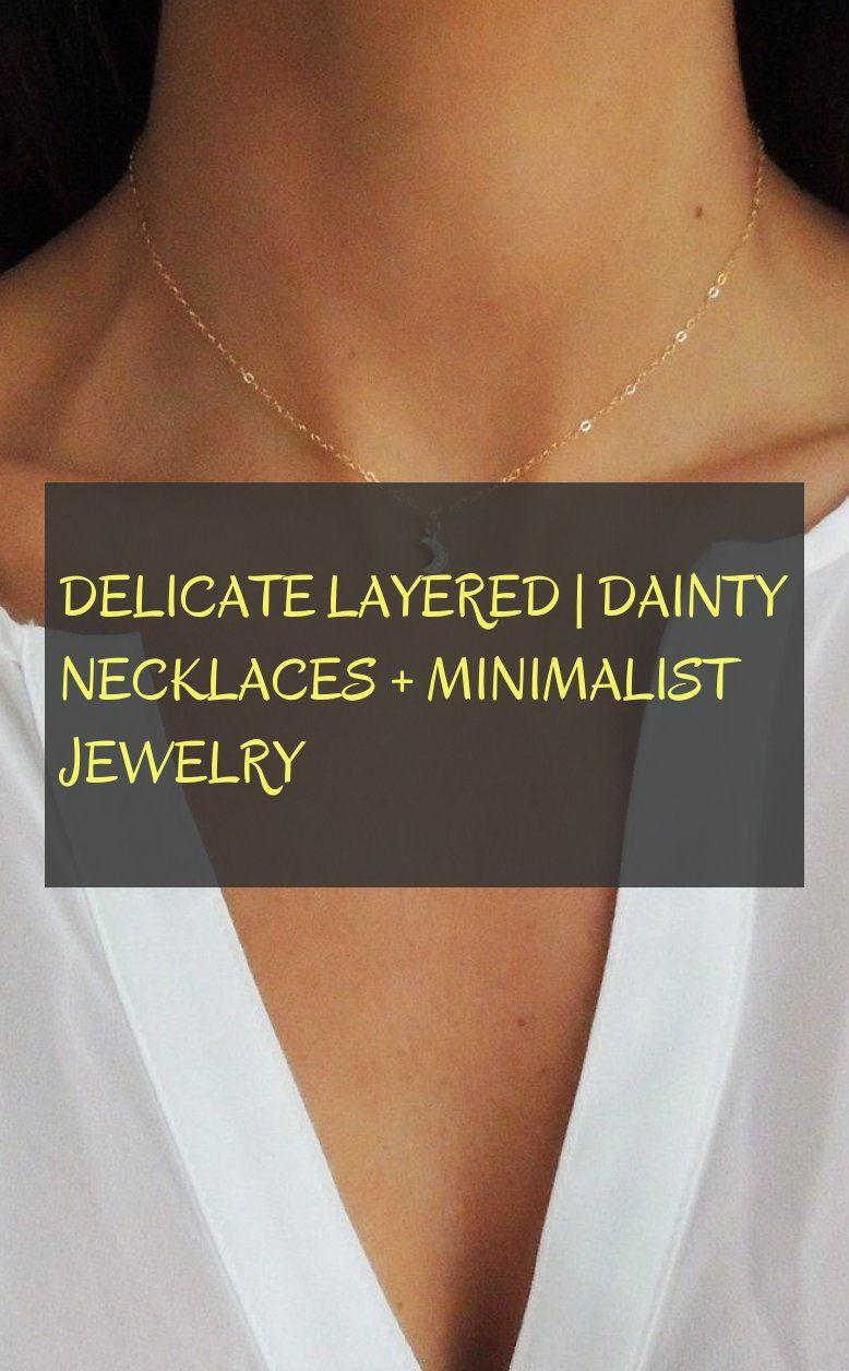 delicate layered | dainty necklaces minimalist jewelry