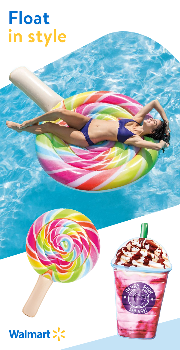 Live it up all summer long with festive pool floats from
