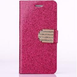 Photo of Deluxe Glitzer Leder Flipcase Rose Red für Ihr iPhone 7/8 Plus