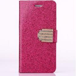 Photo of Deluxe Glitzer Leder Flipcase Rose Red für Ihr iPhone 8 PlusGahatoo