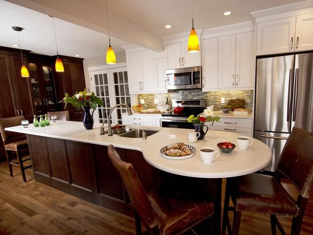 Kitchen Island With Built In Breakfast Table Kitchen Island With Seating Kitchen Remodel