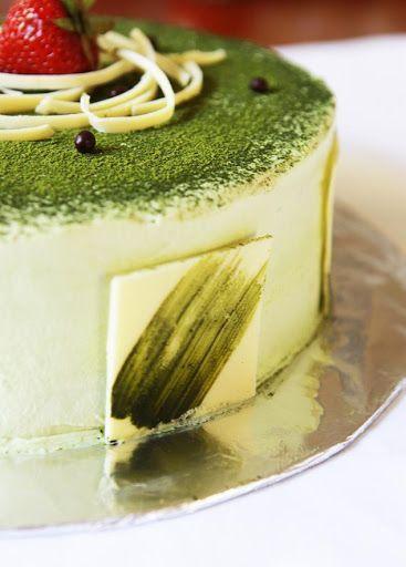 Photo of Gourmet Baking: Green Tea Ice Cream Cake Green Tea greentea ice cream