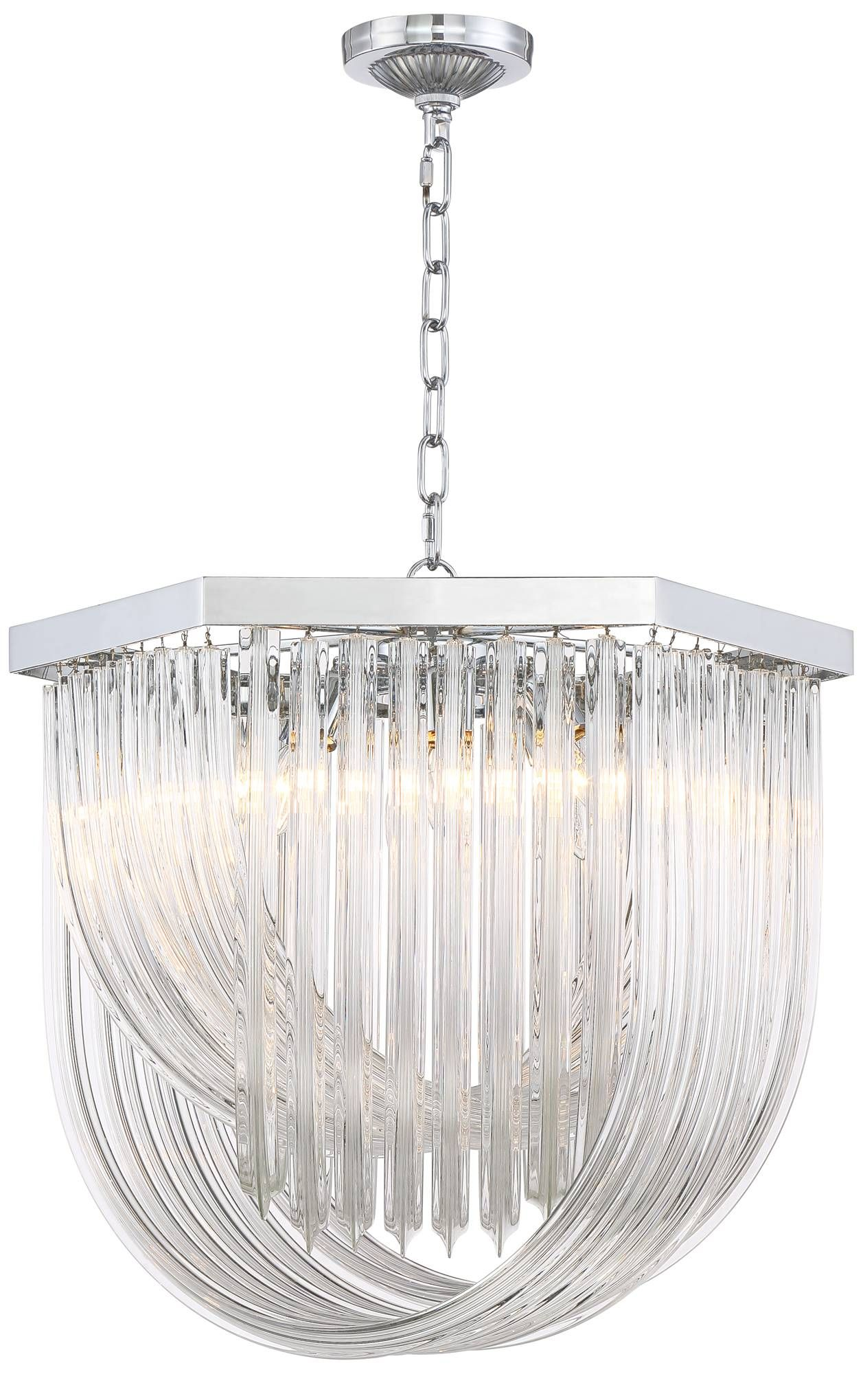 "Lamps Plus Pendant Lights Magnificent Haan 21 12"" Wide Chrome Crystal Pendant Light  #14A21  Lamps Plus Decorating Inspiration"