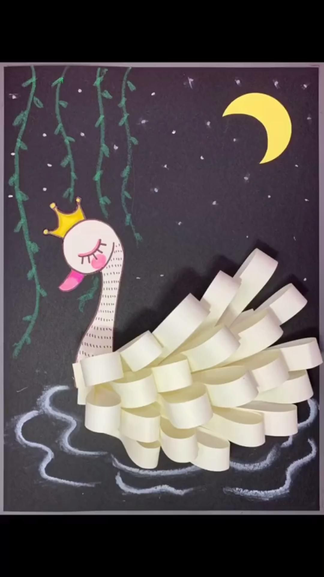 Photo of DIY White Swan Paper Craft