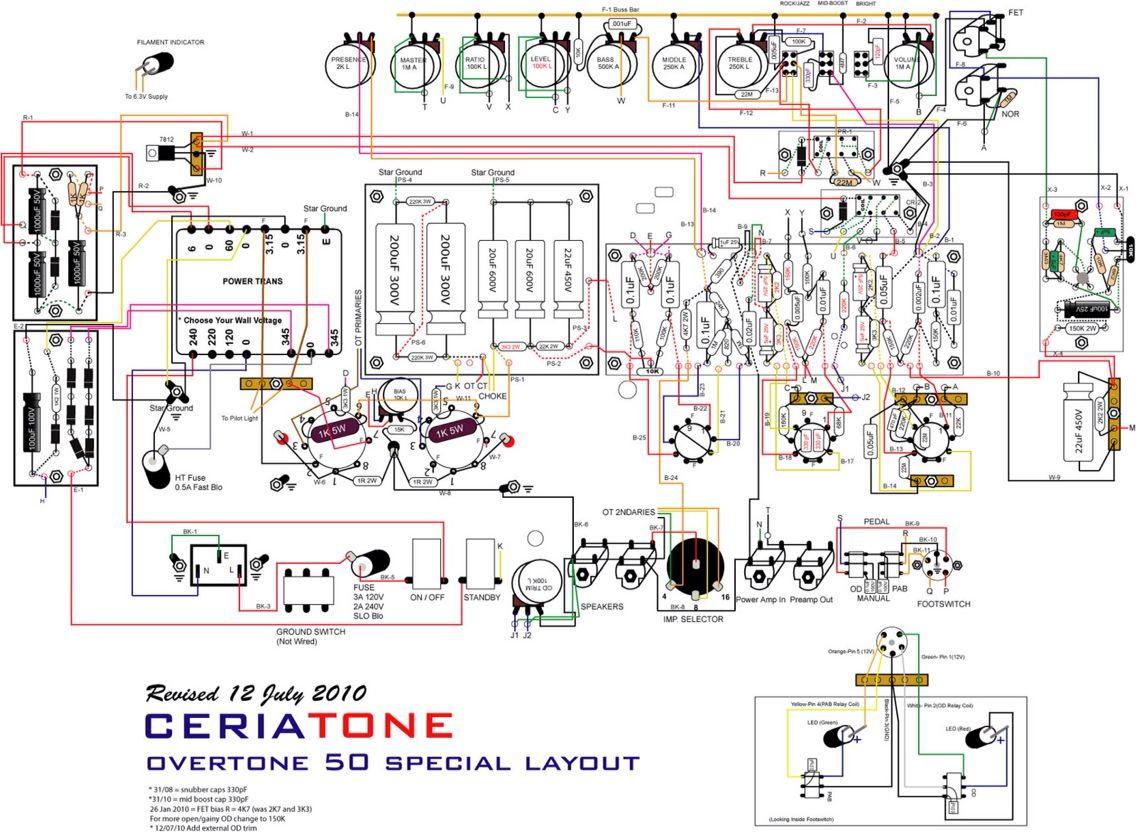 schematic ckt of a dumble guitar amp copy electronics electrical dumble amp wiring diagram [ 1136 x 832 Pixel ]