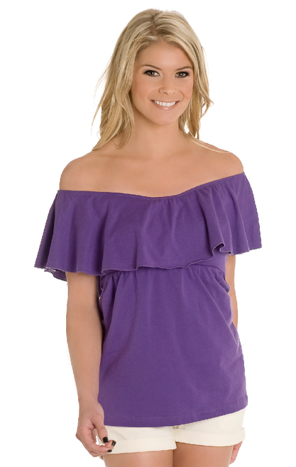 Revelry Scarlet Convertible Top in purple cotton from our Harmony Cotton Collection. Mix and Match styles starting from $29 for group orders. We specialize in group orders - large or small - for sorority recruitment and bridesmaids. Order a sample box and try on at home! Find out more by visit www.shoprevelry.com!