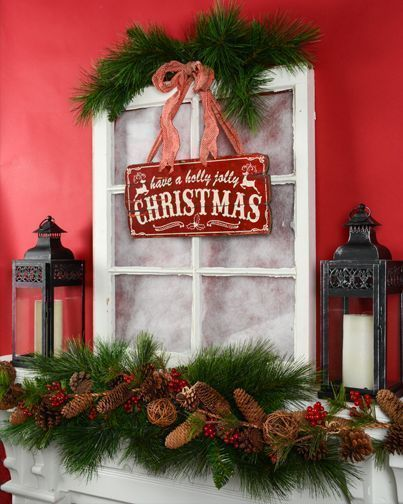 cute christmas signs christmas decor ideas vintage rustic christmas decorations christmas mantle inspiration red and green traditional holi - Vintage Rustic Christmas Decorations
