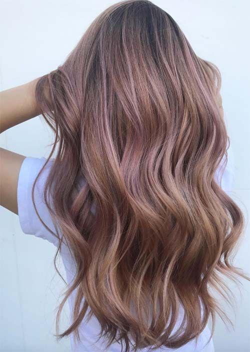 52 Charming Rose Gold Haarfarben: So erhalten Sie Rose Gold Hair - Neueste frisuren   bob frisuren   frisuren 2018 - neueste frisuren 2018 - haar modelle 2018
