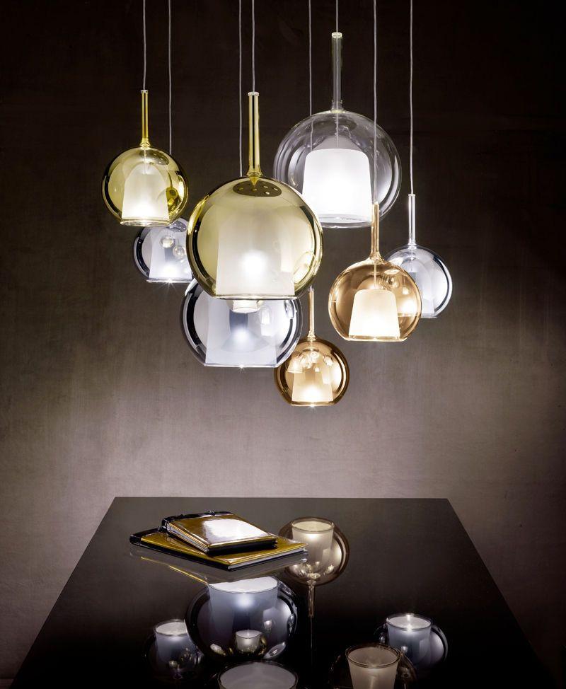 Lampada a sospensione / di design originale / in vetro