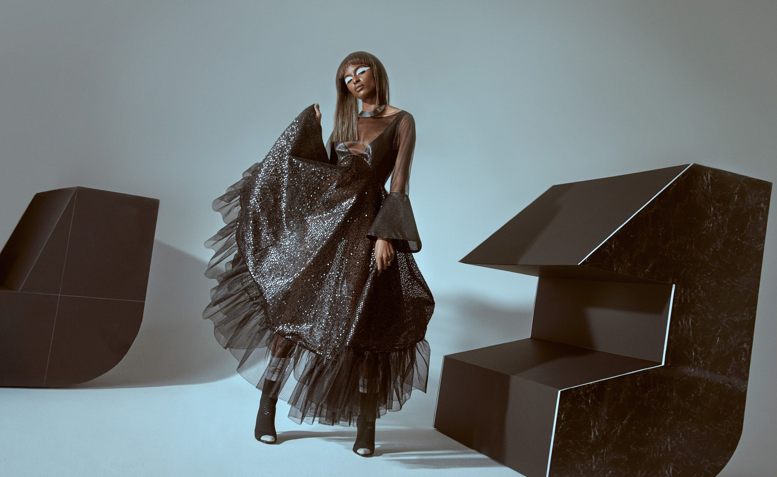Atlas magazine fashion editorial featuring kelsey randall black atlas magazine fashion editorial featuring kelsey randall black tulle sequin gown bustle dress shot by bailey thecheapjerseys Image collections