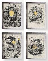 Photo of Drache · Hexagramme 30 legendäre chinesische Drachenillustrationen und Gemäld…