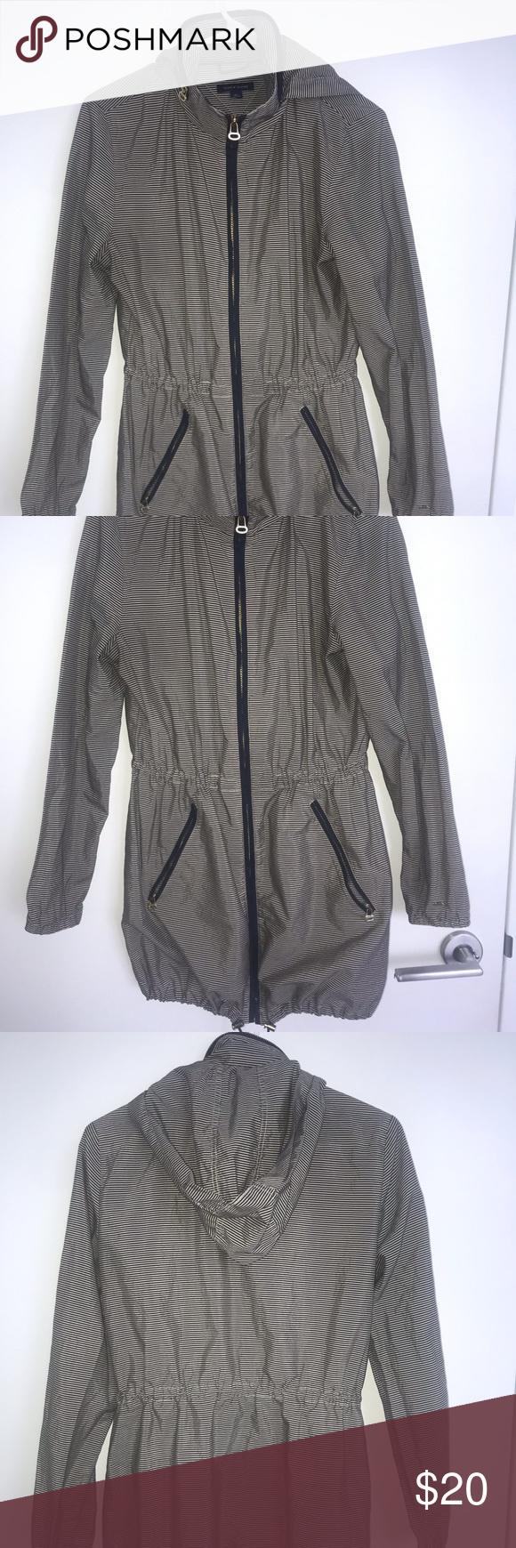 Tommy Hilfiger Striped Rain Jacket W/Hood Tommy hilfiger