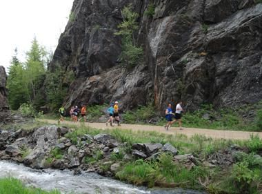 The Mickelson Trail runs through Deadwood. Amazing scenic surroundings.