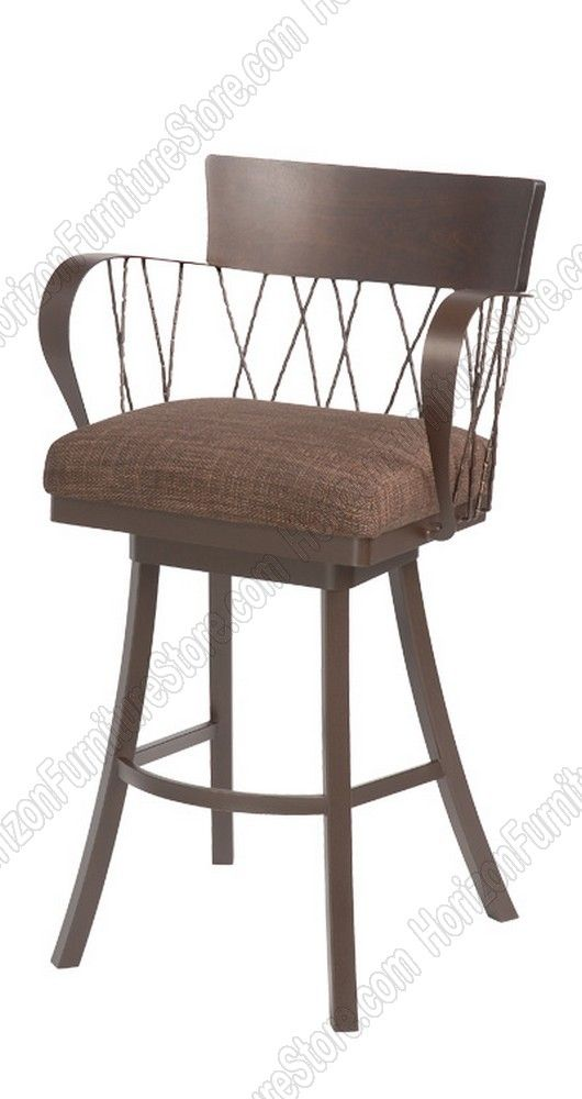 Trica Bambusa Ii Swivel Bar Stool With Arms 540 00