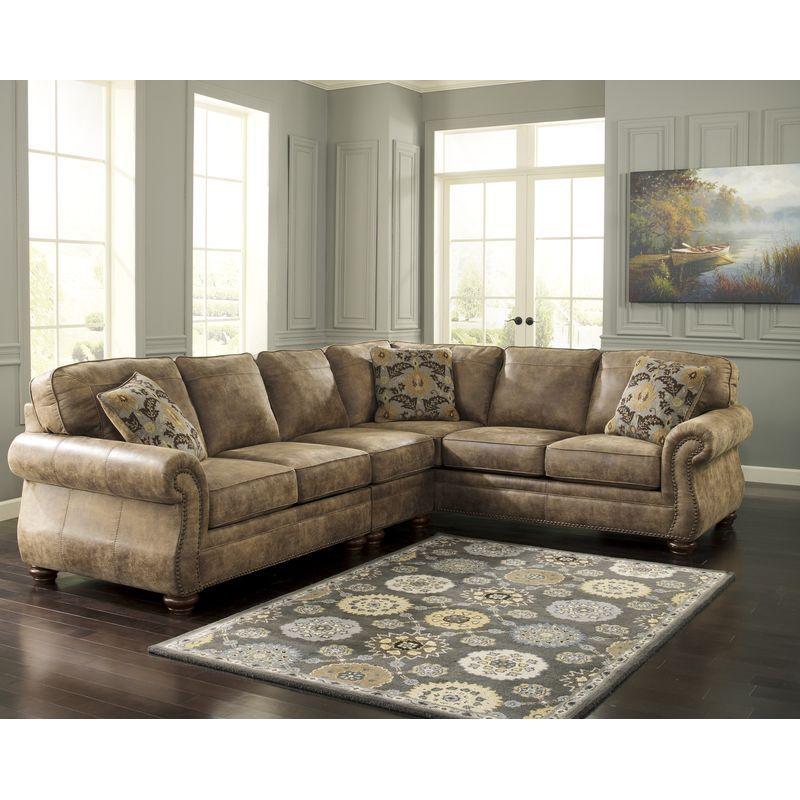 Larkinhurst Sectional Furniture Near Tempe Az Sectional Sofa Furniture Layout Living Room Sectional