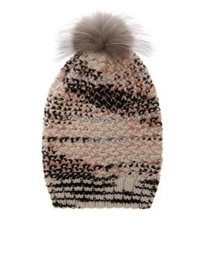 4dd067a37426f1 Fur-pompom cashmere-blend beanie   Toppers   Cashmere hat, Hats, Fur ...