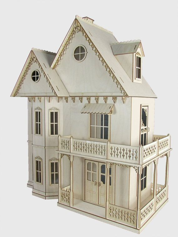 gingerbread victorian dollhouse kit journey 39 s house of dreams 1 12 scale doll house kit heart. Black Bedroom Furniture Sets. Home Design Ideas