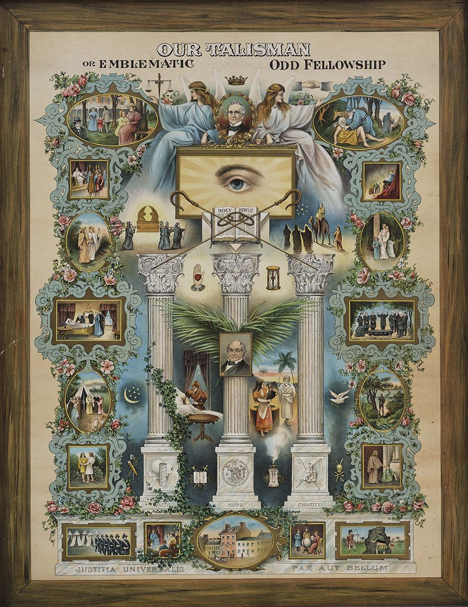 Our Talisman Or Emblematic Odd Fellowship Published By M W Hazel 1845 1911 New York City 1907 1908 Chromolithograph O Odd Fellows Art American Folk Art